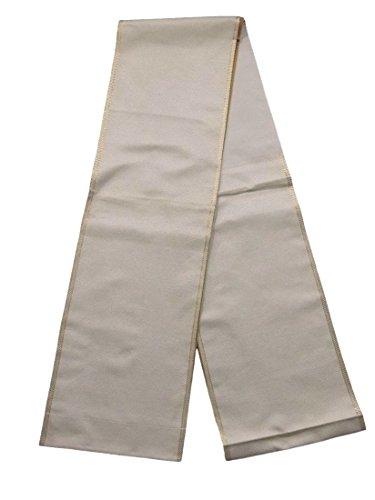 ピアノバレーボール心のこもったリサイクル 袋帯  細かな斜め格子 正絹