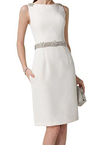 Brautmutterkleider Knielang Marie La Braut Etuikleider Abendkleider Partykleider Promkleider Weiss t7w0dqw