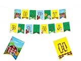 FARM THEMED HAPPY BIRTHDAY BANNER - Farmhouse Fun Party Supplies Decorations - Animal Farm Party Supplies - Barn Birthday Decor - Old Macdonald Party Supplies - Barnyard Party Supplies - Farm Games Birthday Decor - Kid Party Decorations - 8*5.5 Inches