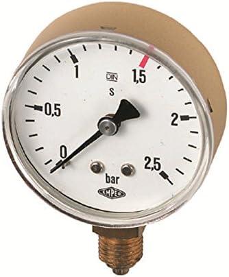 SCHWEISSER KING Manometer Ersatzmanometer Propan bis 6,0 bar R 1/4'', Typ:bis 2.5 bar