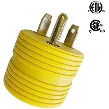 Amazon.com: Conntek 14101 15A to TT-30R RV Plug Adapter