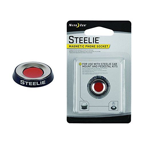 Nite Ize Original Steelie Magnetic Phone Socket - Additional Magnet for Steelie Phone Mounting - Drive Mounting System