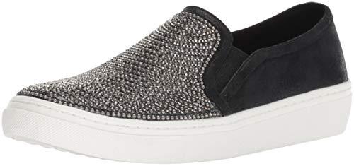 Skechers Women's Goldie-Rhinestone and Pearl Embellished Slip on Sneaker, Black, 7 M US