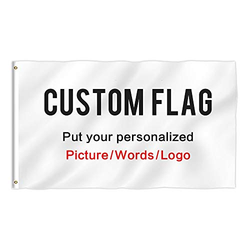 (KafePross Custom Outdoor Flag 3X5 FT Use Your Personalized Picture Text or Logo to Customized Gifts Print One)