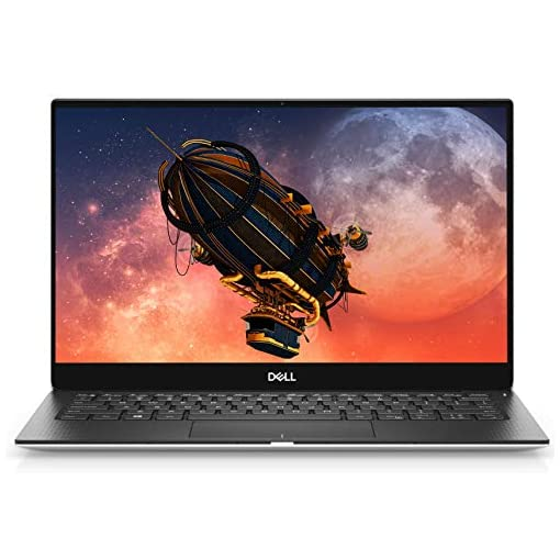 Dell XPS 13 13.3 Inch 4K UHD Thin and Light, InfinityEdge Touchscreen2019Laptop (Silver) Intel Core i7-8565U, 16 GB RAM, 512 GB SSD, Windows 10 Home