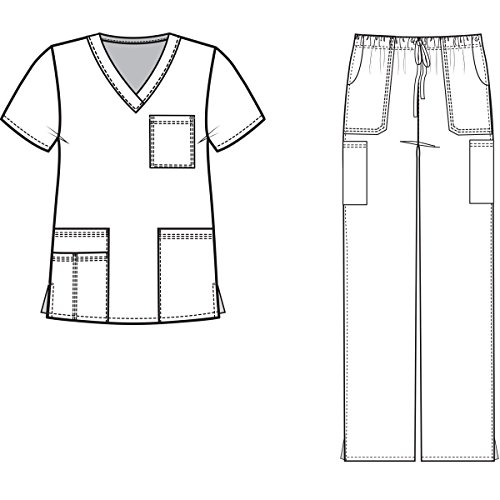 0d36fc531ea Medgear 3-Piece Combo, Eversoft Scrubs Set With Printed Scrubs Top SPPB -  Buy Online in Oman. | Apparel Products in Oman - See Prices, Reviews and  Free ...