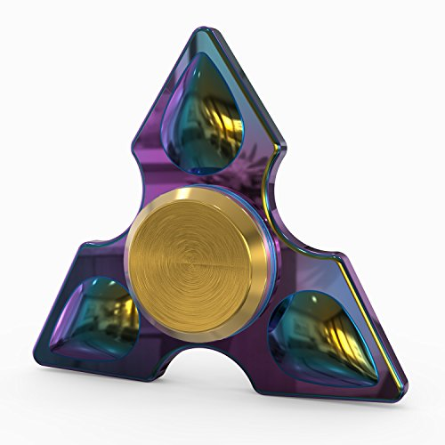 InfiSpin Fidget Spinner, Metal Tri Spinner [Easy Flick & Spin] Prime EDC Focus + Stress Relief Toy | High Speed Bearings for 4+ Minutes of Spinning | Smooth, Quiet & - Hours Las Americas