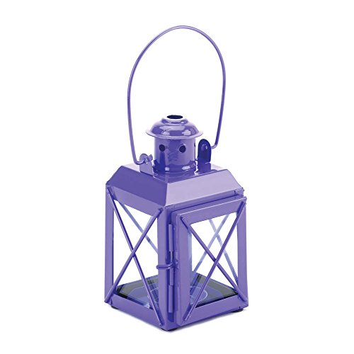 Home Locomotion Mini Crisscross Candle Lamp Purple (Mini Railroad Lantern)