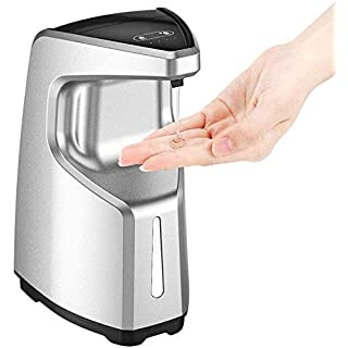 OPOLAR Touchless Soap Dispenser, Countertop/Wall Mounted Soap Dispenser,Automatic & Adjustable Volume Soap Dispensing, Compatible with Ordinary Hand sanitizer and Disinfectant Gel,450ml—Silver