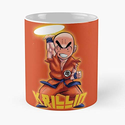 Krillin Mug Best Mug holds hand 11oz made from White marble ceramic