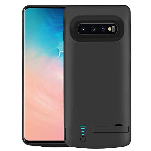 RUNSY Battery Case Compatible with Samsung Galaxy S10+ Plus, 6000mAh Rechargeable Extended Battery Charging Case, External Battery Charger Case, Adds 1.5X Extra Juice (6.4 inch for Galaxy S10+)