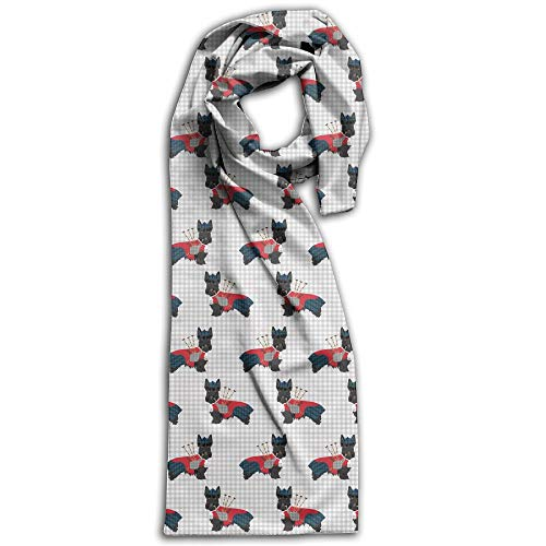 Scotty Combination (Scottie Dog with Bagpipes Women's Fashion Long Shawl Spring Winter Scarves Shawl Wraps Winter Warm Large Scarf)