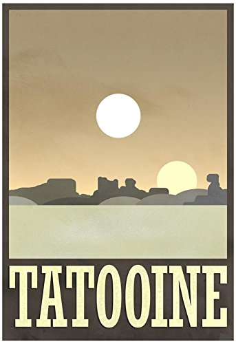 Tatooine Travel Poster with Hanger