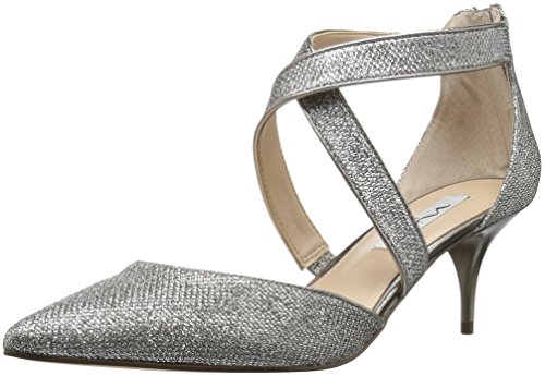 Nina Women's Tessie Dress Pump, Steel/Latte, 7 M US