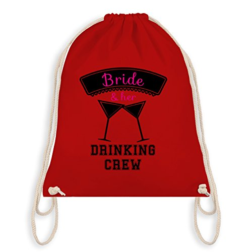 Shirtracer JGA Junggesellinnenabschied - Bride and her drinking crew - Turnbeutel I Gym Bag Rot
