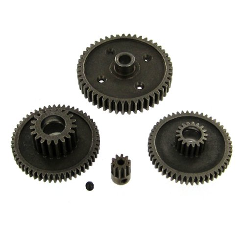 Redcat Racing RS10 Steel Gear Set with 10T Pinion, 4 Gears (1-Set Needed for Each Axle) 10t Pinion Set