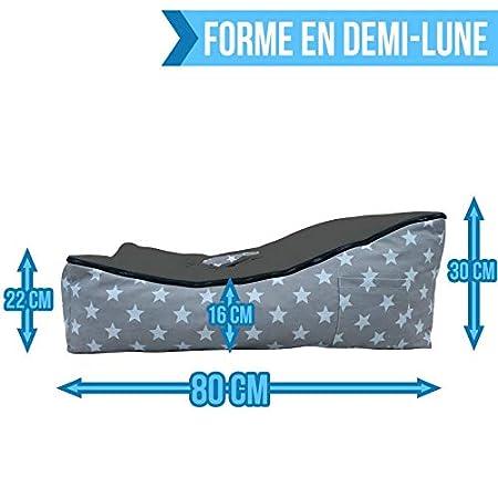 Norme NF EN12790 Monsieur B/éb/é /® Transat pouf b/éb/é avec 2 poches de rangement poign/ée de transport et 2 assises 5 coloris