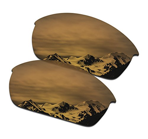 SmartVLT Men's Bronze Gold Replacement Lenses for Oakley Flak Jacket Sunglass