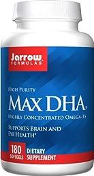 Jarrow Formulas - Max DHA 180 softgels (Pack of 2)
