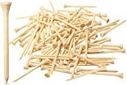 Dsenfurn 250 Pack Professional Bamboo Golf Tees 2-3/4 Inch - Stronger Than Wooden Golf Tees Biodegradable &