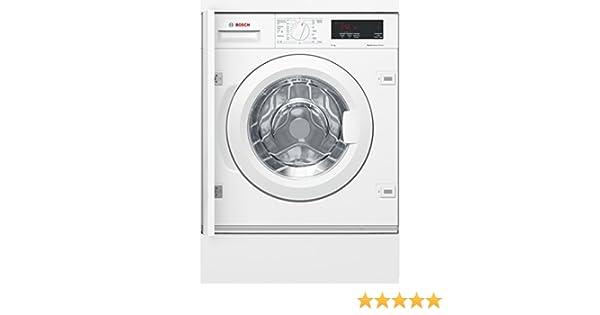 Bosch Serie 6 WIW24300ES integrable: lavadora integrable de carga frontal, 8 kg, 1200 rpm, A+++, blanca, mando giratorio, bisagra de puerta a la ...