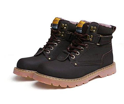 in più tacco cachemire scarpe deep stivaletti brown basso Unisex scarpe e all'aperto Ufficio a da Coppia inverno escursione RDJM pizzo in carriera Hqw7ISRR