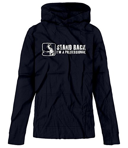 BSW Youth Boy Stand Back I'm a Professional Knife in Wall Socket Hoodie LRG Navy ()