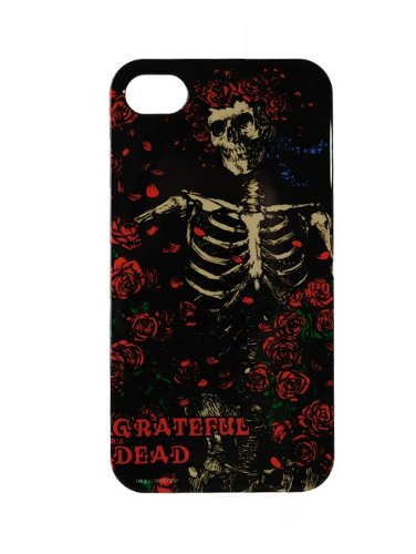 AUDIOLOGY GD14-01 Grateful Dead Fitted Hard Shell Cell Phone Case for iPhone 4/4S - 1 Pack - Retail Packaging - Skeleton/Roses