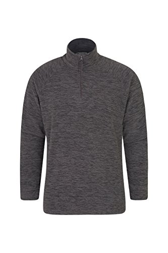 Mountain Warehouse Snowdon Mens Micro Fleece Pullover - Warm Sweater Charcoal Large