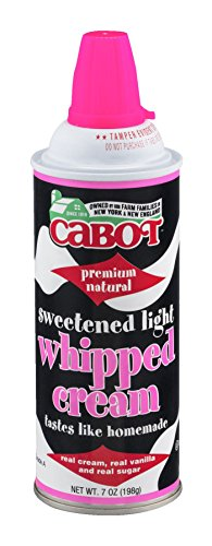 Cream Cheese Whipped (CABOT Premium Sweetened Light Whipped Cream, 7 Ounce (Pack of 12))