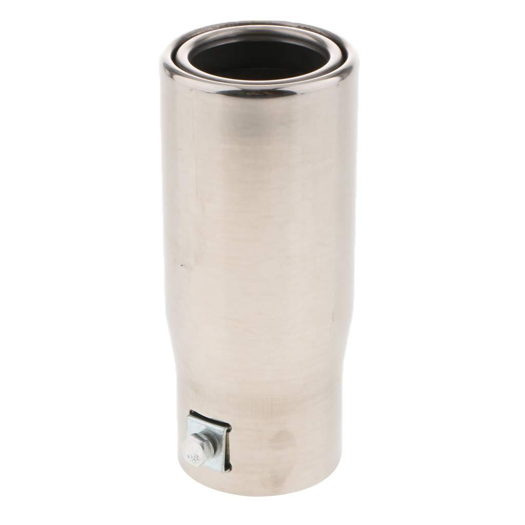 Homyl 30-50mm Einlass Edelstahl Auspuff Endschalld/ämpfer Schalld/ämpfer Silber
