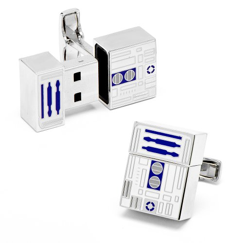 Star Wars R2D2 4GB USB Flash Drive Cufflinks (Drive Usb Nerdy)