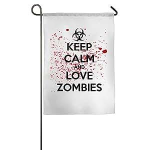 Keep Calm And Love Zombies Jardín bandera
