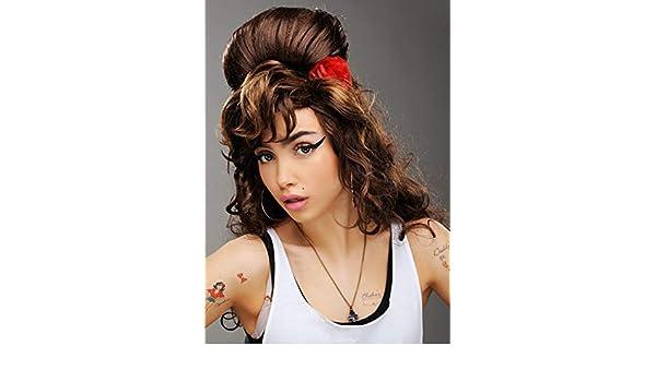 Magic Box Peluca de rehabilitación marrón Estilo Amy Winehouse ...