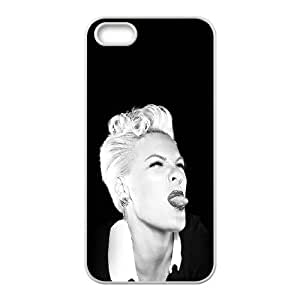iPhone 4 4s Cell Phone Case White Pink Funny Music Girl Face GY9276970