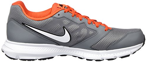 Nike Herren Downshifter 6 Laufschuhe Cooles Grau / Metallic Platinum / Team Orange / Weiß