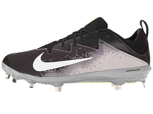 NIKE Men's Lunar Vapor Ultrafly Elite Baseball Cleats (12 D(M) US, Black/White/Wolf Grey/Cool Grey)