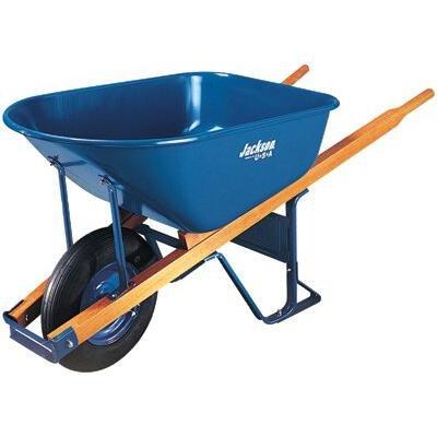Jackson® Contractors Wheelbarrows - jackson 6 cu. ft. wheelbarrow folded steel tray by Jackson Professional Tools