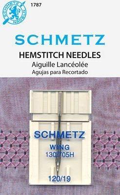 BlueArrowExpress Schmetz Hemstitch/Wing Needles for Home Sewing Machines 120/19 & 100/16 (120/19)