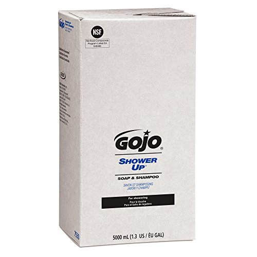 5,000 Ml Refill (GOJO 7530 SHOWER UP Soap & Shampoo, Pleasant Scent, Rose Color, 5000mL Refill,)