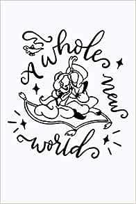 A Whole New World Notebook Svg Princess Jasmine Aladdin Inspired