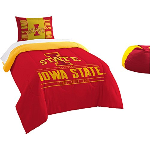 Iowa State Comforter (Officially Licensed NCAA Iowa State Cyclones Modern Take Twin Comforter and Sham)