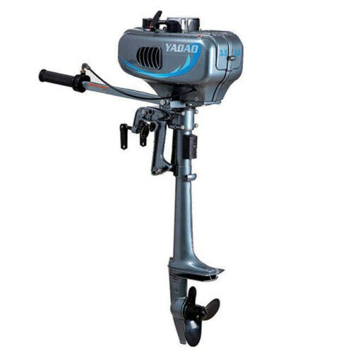 Outboard Engine Motor, 2 Stroke 3.5HP Heavy Duty Outboard Motor, Gasoline Power Fishing Boat Engine Propeller for Inflatable Boat Tiller Shaft CDI Water Cooling System