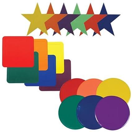 Amazon.com: Formas y Colores Actividad esteras: Sports ...