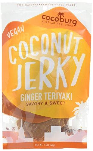 Cocoburg Vegan Coconut Jerky, Ginger Teriyaki, 1.5 oz.
