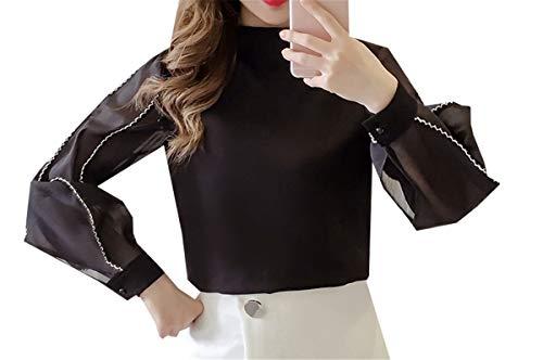 Femme COCO Chemisier Noir clothing Longues Manches 44fwIBPq