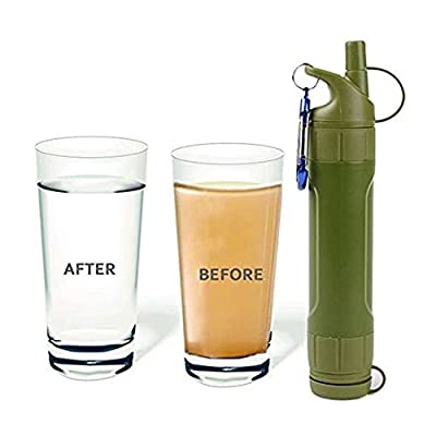Portable Water Purifier Filter Outdoor Emergency Survival Camping Hiking Tool