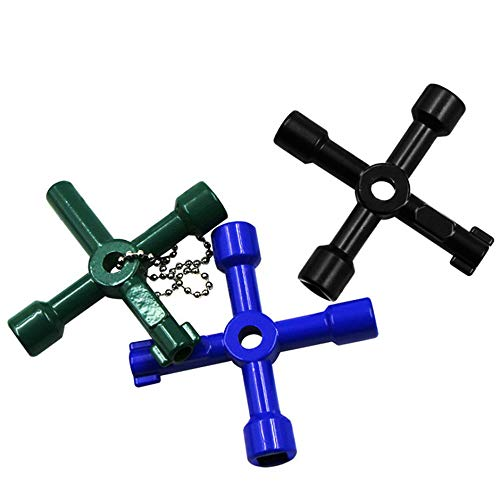 WEIWEITOE-UK Multifunction 4 Ways Universal Triangle Wrench Cross Key Plumber For Gas Electric Meter Cabinets Bleed Radiators