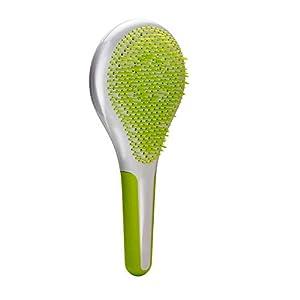Michel Mercier Detangling Hair Brush – SPA Wet n Dry Anti-slip Rubber Handle Green (Normal Hair)