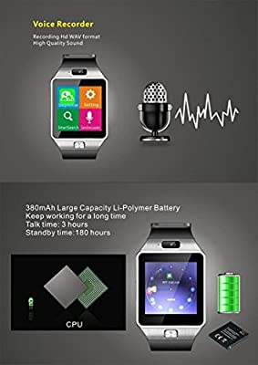 Amazingforless Bluetooth Touch Screen Smart Wrist Watch